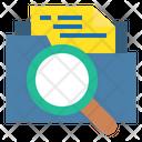 Search Folder Search File Analysis Icon