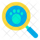 Footprint Search Footprint Paw Icon