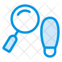 Footprint Search Magnifier Icon