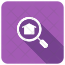 Magnifier Search House Icon