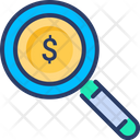 Finance Funds Magnifier Icon