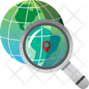 Search global map Icon