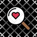 Heart Love Search Icon
