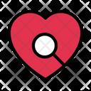 Search Heart Love Icon