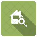 Magnifier House Search Icon