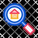 Magnifier Search Estate Icon
