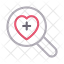 Search Life Heart Icon