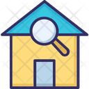 Search House Find Find Building Icon