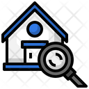 Search House Search Home Loupe Icon