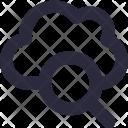 Cloud Search Internet Icon
