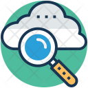 Cloud Magnifying Service Icon