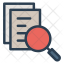 Document Search Magnifier Icon