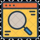Webpage Search Internet Icon