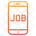 Search Job In Mobile Icon