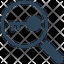 Seo Magnifier Key Icon