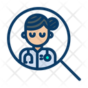 Search Lady Doctor Icon