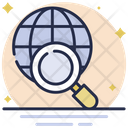 Search Location Internet Search Globe Icon