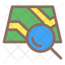 Magnifier Map Location Icon