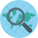 Search Location Magnifier Find Place Icon