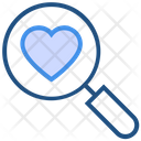 Heart Valentines Day Search Icon