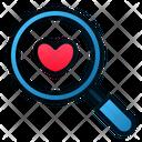 Search Love Magnify Love Icon
