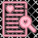 Search Love Romance Icon
