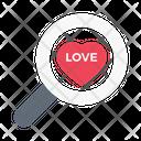 Search Love Find Icon