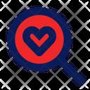 Search Love Love Find Love Icon