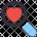 Search Love Search Heart Find Love Icon