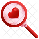 Search Love Love Search Find Love Icon