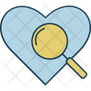 Search Love Magnifier Searching Icon