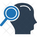 Search Man Profile Magnifier Icon