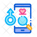 Male Love Search Icon