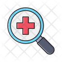 Medical Search Clinic Icon