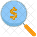 Search Loupe Dollar Symbol Icon