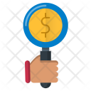 Money Search Currency Icon