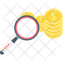 Search Money Coin Magnifier Icon