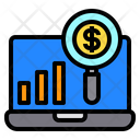 Growth Labtop Finance Icon