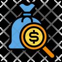 Search Money Money Bag Icon
