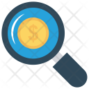 Search Dollar Magnifier Icon