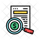 Search Money Document Finance Document Research Icon