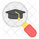 Search Mortarboard Magnify Mortarboard E Learning Icon