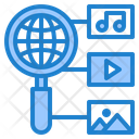 Search Multimedia Search Global Icon