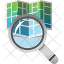 Address Find Magnifier Icon