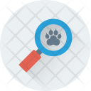 Search Paw Magnifying Icon