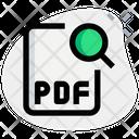 Search Pdf File Icon