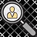 Find Person Search Person Businessman Identity Icon