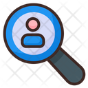 Search People Search Customer User Monitoring Icon