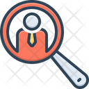 Search People Symbol Magnify Interview Icon