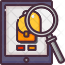 Magnifying Glass Online Online Store Icon